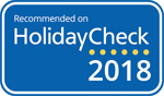 Recommended on HolidayCheck 2018